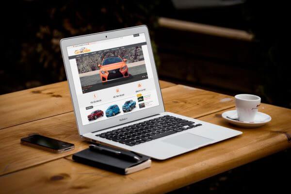 Mẫu web bán ô tô, giới thiệu
