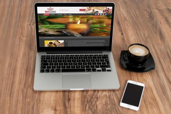Mẫu web bán hàng hoặc giới thiệu doanh nghiệp đẹp
