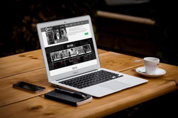 Mẫu web giới thiệu DN kết hợp bán hàng