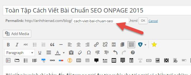 SEO Onpage khi viết bài cho website