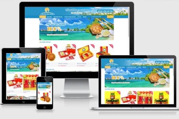 Mẫu website nội thất, bán hàng
