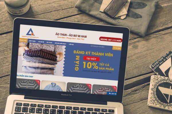 Mẫu giao diện website bán hàng thời trang